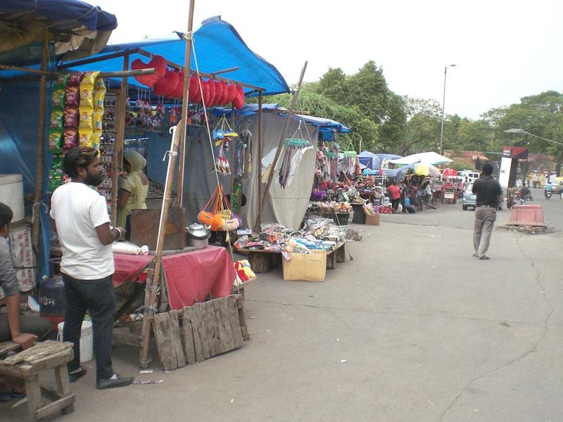 Straßenmarkt in Dehli