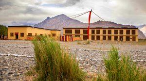 Der Bau eines neuen Internats für die Kinder im Nubratal