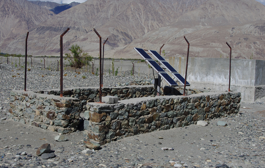 chronik23 - Brunnen wird mit Solarenergie
