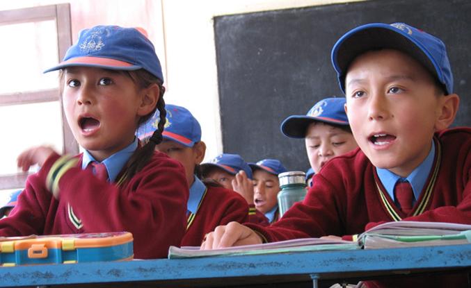 Schüler einer Lamdon School