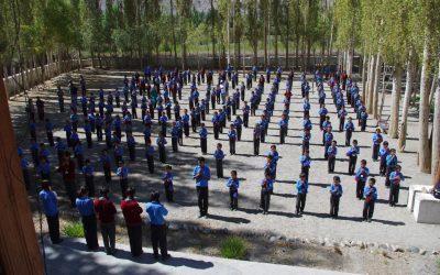 Morgendliche Schulversammlung